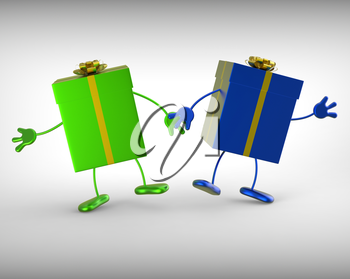 Presents Meaning Shopping For Gift And Giving