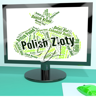 Polish Zloty Representing Worldwide Trading And Foreign