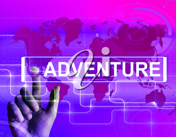Adventure Map Displaying International or Internet Adventure and Enthusiasm