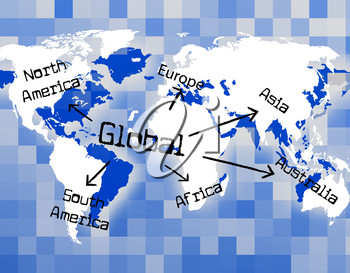 Global World Showing Biz Corporate And Planet