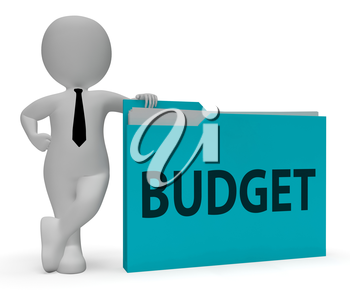 Budget Folder Showing Office Budgeting And Organization 3d Rendering