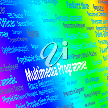 Multimedia Programmer Showing Software Engineer And Employment