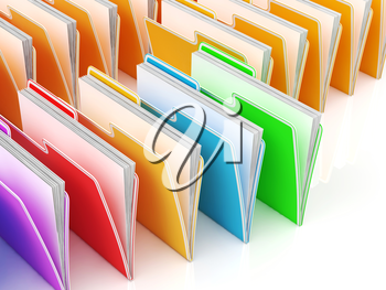 Folders Showing Organizing Documents Filing And Data