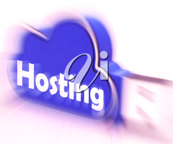 Hosting Cloud USB drive Showing Online Data Hosting And Storing