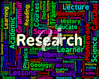 Research Word Showing Gathering Data And Researcher