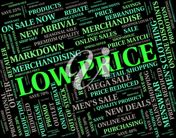 Low Price Representing Keenly Priced And Text