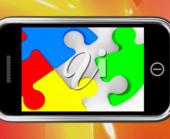 Last Piece On Smartphone Shows Solving And Finishing