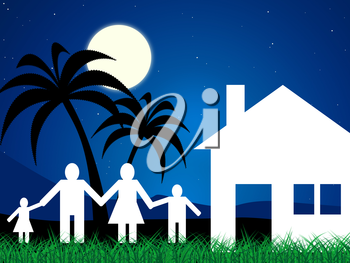 Vacation Home Showing Tropical Island And Children