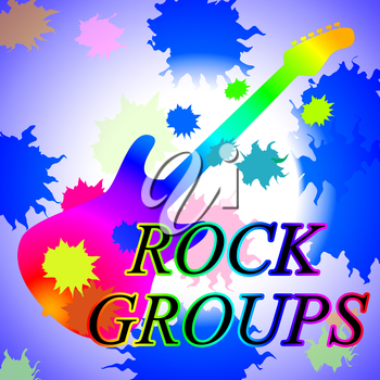 Rock Groups Representing Sound Bands And Audio