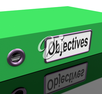 Objectives File Indicating Goals Aim And Organization