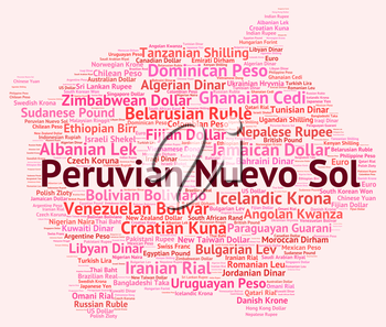 Peruvian Nuevo Sol Representing Worldwide Trading And Exchange