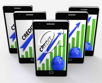 Credit Graph Phone Meaning Financing Lending And Repayments