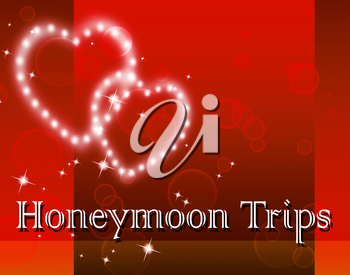 Honeymoon Trips Indicating Travel Guide And Destination