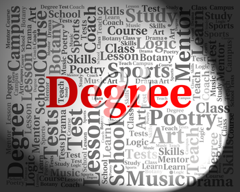 Degree Word Meaning Qualification Associates And Text