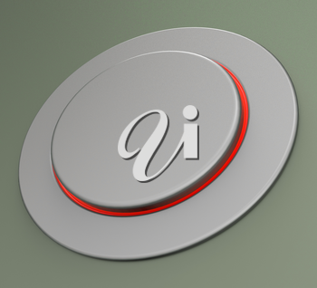 Blank Push Button Or Switch Showing Copyspace