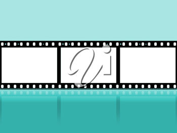Copyspace Filmstrip Showing Cinematography Photographic And Photograph