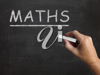 Maths Blackboard Meaning Arithmetic Numbers And Calculations