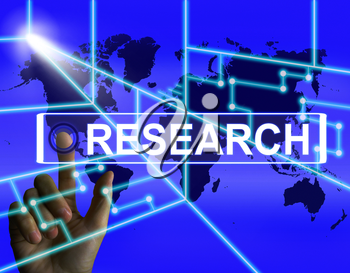 Research Screen Representing Internet Researcher or Experimental Analyzing