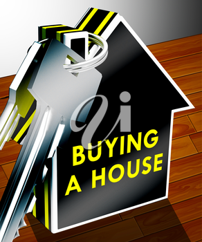 Buying A House Keys Shows Real Estate 3d Rendering