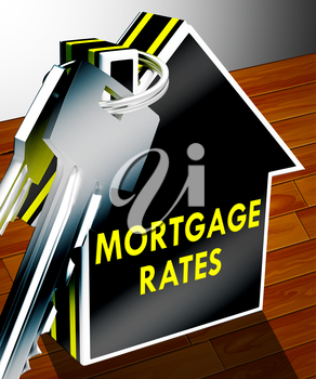 Mortgage Rates Keys Indicating Home Finance 3d Rendering