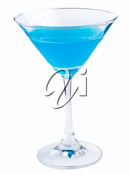 Cocktail Drink Showing Liquor Blue And Alcohol
