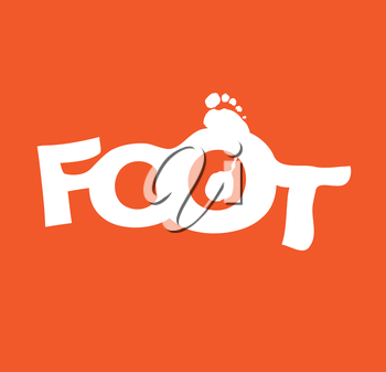 Typographic Foot Design. AI 10 supported.