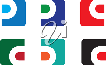 P,B and Q Icon Set Design. AI 8 supported.