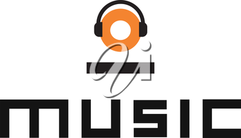 Music Logo Design with Headset. AI 8 supported.