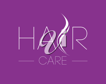 Hair Care Logo Design Concept.
