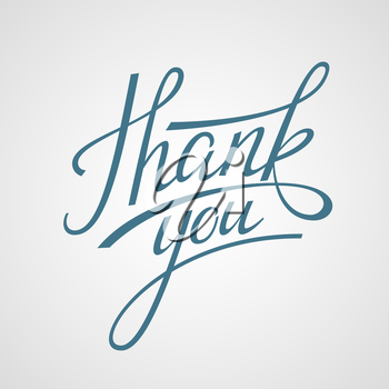 Hand Lettering Thank you. Vector illustration EPS 10