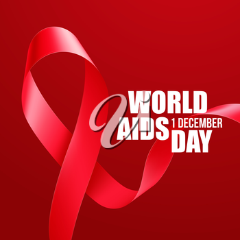Aids Awareness. World Aids Day concept. Vector illustration EPS10
