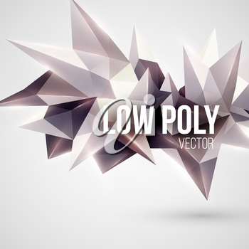 Low poly triangular background. Design element. Vector illustration EPS 10