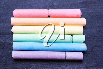 Background of a LGBT from multi-colored chalks on a chalkboard