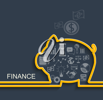 Finance and business concept. Vector Illustration eps10.