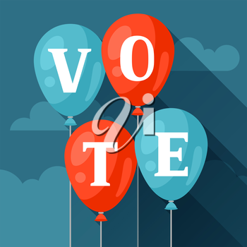 Balloons with appeal vote. Political elections illustration for banners, web sites, banners and flayers.