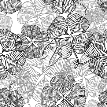 Vector seamless pattern of abstract clover.