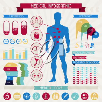 Medical infographic abstract elements collection.