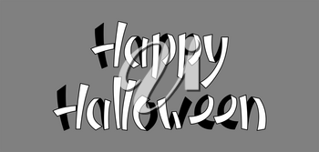 Happy Halloween lettering. Concept for party invitation, greeting card.