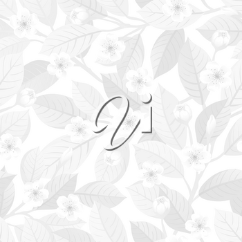 Floral seamless pattern. Spring and summer white background.