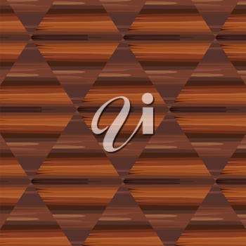 Ethnic brown ornament in the form of a geometric pattern of bamboo