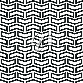Geometric vector pattern with black arrows. Geometric modern ornament. Seamless abstract background