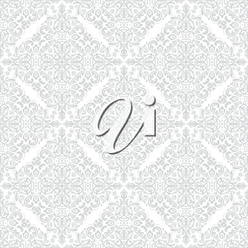 Orient vector classic pattern. Seamless abstract background with light silver vintage elements. Orient background. Ornament for wallpaper and packaging