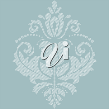 Orient vector classic blue and white pattern. Seamless abstract background with vintage elements. Orient background. Ornament for wallpaper and packaging