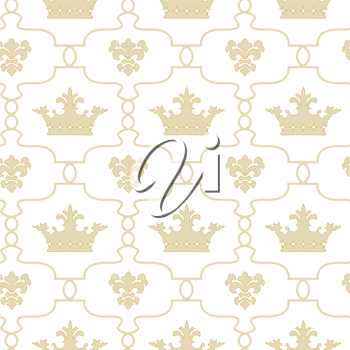Seamless background with crowns. There is an option in the vector.