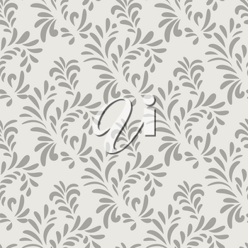 Abstract floral seamless pattern. Floral ornamental leaves texture. Stylish abstract vector background