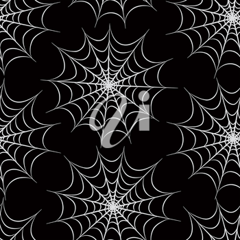 Halloween seamless pattern. Holiday background with web