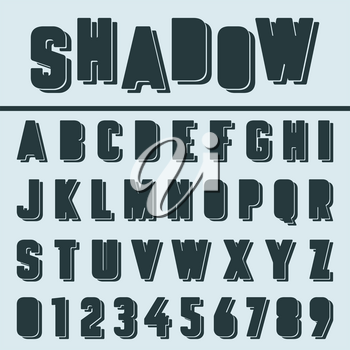 Alphabet font template. Letters and numbers. Vector illustration
