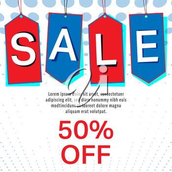 Sale labels or tag background. Special offer color tags template. Vector Illustration.