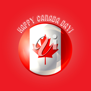 Happy Canada day poster. Design for greeting card, printing products, flyer, brochure covers or booklet. Vector illustration.