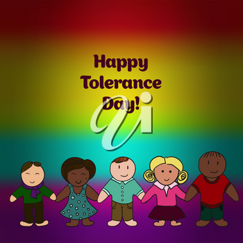 International Day for Tolerance. Bright picture. Picture for your design. Card, banner